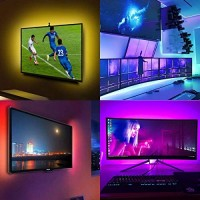 LED Strip Lights, 16.4ft 5050 RGB LED Tape Lights, Color Changing LED Strips with Remote and Power Supply.
