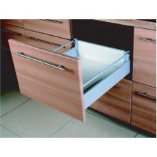 18 Inch DOUBLE WALL UNDER MOUNT SOFT CLOSE FULL EXT. SLIDE 1 RAIL 6.450DR