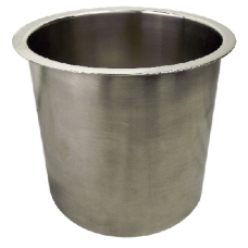 "6"" X 4"" POLISHED STAINLESS STEEL TRASH GROMMET 6143-479"