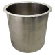 """12"""" X 6"""" POLISHED STAINLESS STEEL TRASH GROMMET 6152-679"""