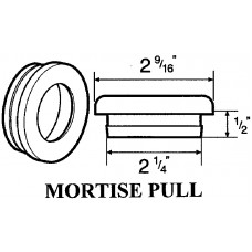 2.25 Inch MORTISE ROUND PULL 2160