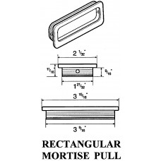 RECTANGULAR MORTISE PULL 2194
