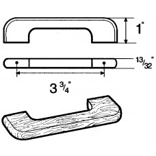 96 m.m. FURNITURE PULL OAK RAW 3323-096