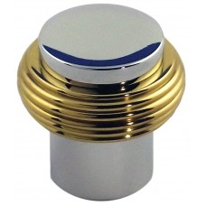 28 X 28 m.m. KNOB CHROME BASE   BRASS RING 9265-079