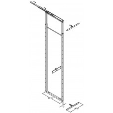 49.75 Inch by 59 Inch ADJUSTABLE PANTRY FRAME PULL OUT 7.340000