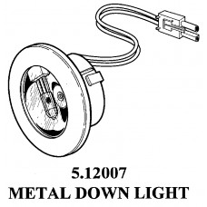 METAL 20 WATTS HALOGEN PUCK LIGHT 5.12007