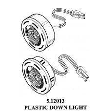 PLASTIC 20 WATTS HALOGEN PUCK LIGHT 5.12013