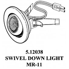 METAL 20 WATTS MR 11 HALOGEN SWIVEL LIGHT 5.12038
