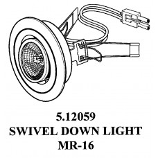 METAL 20 WATTS MR 16 HALOGEN SWIVEL LIGHT 5.12059