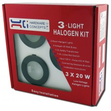 METAL 3 X 20 WATTS HALOGEN PUCK LIGHT 5.32007