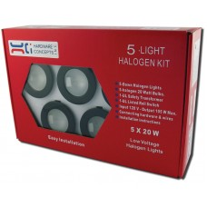 METAL 5 X 20 WATTS HALOGEN PUCK LIGHT 5.52007