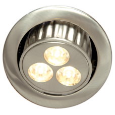 9 WATTS HIGH POWER SWIVEL LED LIGHT BRUSHED CHROME 5.12077-078