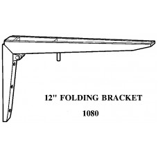 12 Inch FOLDING BRACKET SOLD IN SETS OF 2 1080