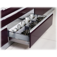 20 Inch STAINLESS STEEL DOUBLE WALL UNDER MOUNT SOFT CLOSE SINGLE RAILING W/GLASS SIDES 6.500DGSS